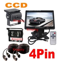 2x 12V CCD Bus Trailer Car Reverse parking Camera 4Pin + 7&q...