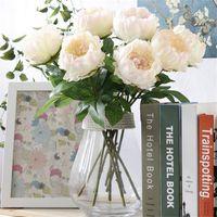 """حار الأوروبي الحرير واحدة الجذعية الفاوانيا 49 سنتيمتر / 19.29 """"طول الاصطناعي الزهور الفاوانيا عرض زهرة ل diy اكسسوارات الزفاف باقة"""