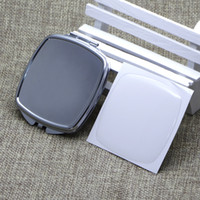 DIY 투명 수지 에폭시 스티커 # M057FY 무료 배송 빈 사각형 컴팩트 거울 실버 포켓 거울 접이식 미러