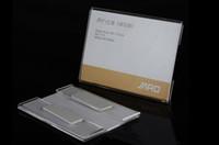 Vendita calda acrilico T1.2mm plastica prezzo tag segno etichetta cornice display wall sticker carta pubblicità promozione nome titolari di carta 10 pz