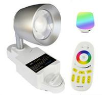 10PCS 2.4G Mi-light 7W LED Rail Rail Spot Spot RGBW Smart Home Faretto a soffitto AC 85-265V + 1PC WIFI Controller + 1PC Touch Remote CE ROSH
