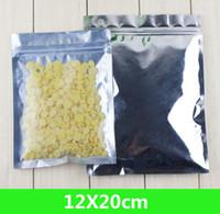 """Novo 12 * 20cm 4.7 * 7.9 """"Folha de alumínio / limpar a válvula resealable zíper plástica de plástico pacote de pacote Bag Zipper Bloqueio Bolsa De Varejo Empacotamento"""