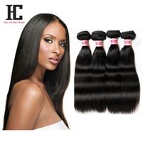 Capelli dritti peruviani del grado 7A capelli diritti di HC Economici 4 capelli diritti peruviani dei capelli diritti Estensione diritta dei capelli