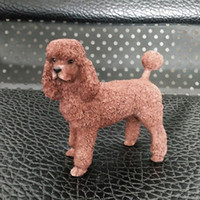 Poodle Matching Simulation Dog Figurine Crafts Foreign Soldi...