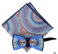 Yeni erkek iş cep havlu papyon takım düğün damat bow kravatlar 7 renk seçebilirsiniz
