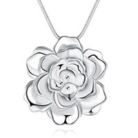 2016 novo design 925 flor de prata colar de pingente de moda jóias festa linda estilo e boa qualidade frete grátis