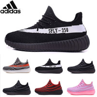 af2d4acff818f Adidas Original Yeezy Boosts 550 Kanye West Yeezy 550 Classic Black Men Tan  Yeezy Trainers Shoes