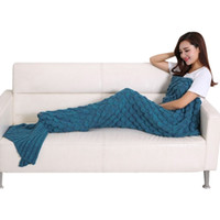 Mermaid Blanket Mermaid Tail Wool For Sofa Cover New Style T...
