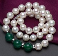 Hermoso 10-11mm Tahitian Rojo y negro Estilo de ágata negro Collar de perlas blancas 18 pulgadas 925 Cierre de plata