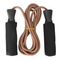 Leather Speed Skipping Jump Rope Adjustable For Gym Lose Wei...