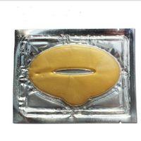 Pellicola per la labbra di cristallo di cristallo di collagene dell'oro delle donne di 500pcs per la maschera del labbro di collagene di cristallo invernale