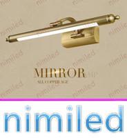 nimi1127 9w / 11w American Antique Cobre Espelho Retro Luzes de Parede Banheiro Espelho Gabinete Iluminação À Prova D 'Água LED Lâmpada Maquiagem