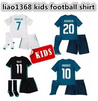New 2017 Real Madrid kids soccer jersey kits child jerseys k...