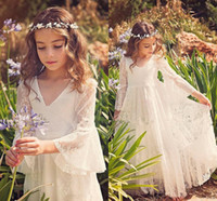 2017 White Lace Princess Communion Dresses for Little Girls ...