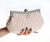 2017 handmade di alta qualità delle donne perfette Pearl Bow raso strass pochette borse borsa borsa da sera borse del banchetto