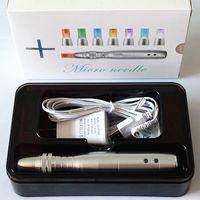 새로운 5 속도 Derma 펜 클리닉 전기 Dermapen 스탬프 자동 마이크로 바늘 안티 에이징 피부 치료 10pcs 니들 카트리지