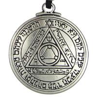 Neue Punk Amulett Anhänger Halskette Sun Talisman Schlüssel von Salomon Seal Anhänger Halskette Hermetische enochische Kabbala Pagan Wiccan Schmuck
