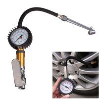 220 PSI Tire Tyre Air Inflator Pressure Gauge Measurement Ca...