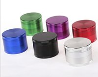 Multi colori Grinder 4 Piec Herb Grinder in lega di zinco Smoking CNC Denti Herbal Tobacco Grinder 4 parti