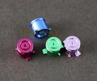 ABXY Aluminio Metal Color Mod Bullet Botones de lujo para Playstation 4 PS4 PS3 controlador Gamepad reemplazo