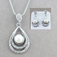 jiayijiaduo Bridal Jewelry Set for women Necklace Earrings G...