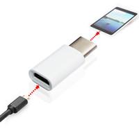 도매 100Pcs / lot USB 3.1 유형 C 남성 마이크로 USB 2.0에 태블릿 휴대 전화 5Pin 여성 데이터 어댑터 화이트 색상