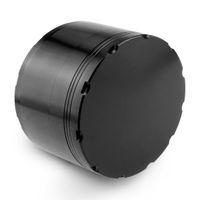 Formax420 tamaño grande de 100 mm x 55 mm 4 capas de aleación de zinc amoladora de la hierba de la trituradora de la especia Muller Color Negro en el envío gratuito