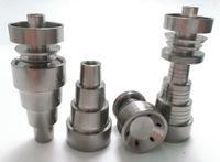 Универсальный domeless Титан ногтей 6 в 1 1014.5 мм 18.8 mm двойная функция gr2 восковое масло кальян воды трубы Бонг пепел DAB установок