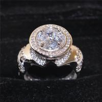 925 piedra preciosa de plata esterlina CZ Diamond anillo simulado para los hombres de la vendimia de la joyería de cóctel anillo de bodas de compromiso anillo dedo dedo
