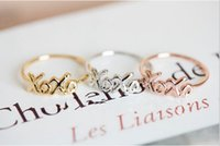최신 패션 트렌드 xoxo 링 여성 금도금 은색 도금 골드 여성의 최고의 선물 판매 장미