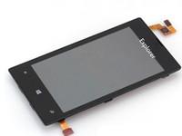 1Pcs Lot Test bestanden für Nokia Lumia N520 520 LCD-Display + Touch Screen Digitizer Montage mit Rahmen 100% ursprüngliches neues freies Verschiffen