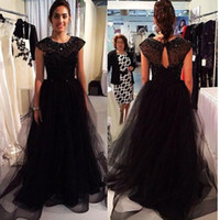 Black Mother Of The Bride Dresses Sheer A-line Tulle Beaded Neck Quality Custom Luxury 2018 Evening Mothers Groom Gowns