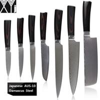 """XYJ Damaskus Küchenmesser 8 """"Kochgeschnitztes Messer 7"""" Chopper 5 """"Santoku 5"""" 4,5 """"3,5"""" Nutzmesser 3,5 """"Gemüsemesser Aus-10 Stahlmesser"""