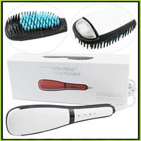 Антоматический ЖК-выпрямитель для волос щетка с распылительными электрическими волосами выпрямления утюги цифровая температура против NASV прямой укладки волос