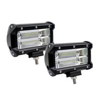 5 pollici 72W 10800lumens Due righe LED Barra luminosa Modificata Luci fuoristrada Modificata Light Bar, Camion, Carrelli elevatori Barra del tetto