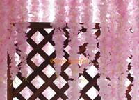 50 قطع 60 سنتيمتر 11 اللون الاصطناعي الكوبية سوكورا الوستيريا زهرة ل diy محاكاة الزفاف القوس مربع الروطان الجدار شنقا سلة للتمديد