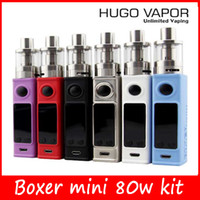 100% Authentique Boxer Mini 80W Kits TC 80W Kits E Cigarette Boxer Box Mod Kits HUGO VAPOR Mod Kits Nouvelle version mini