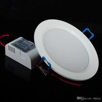 Super-fino recesso levou Downlight SMD5730 Painel de luz 7W / 9W / 12W / 15W / 18W / 25W recesso teto luz fria Branco / AC85-265V branca morna