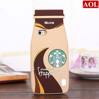 Fashion 3D Cartoon Silicon Case Starbuck bottle Cover For iP...