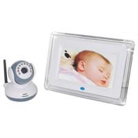7 inç Kablosuz Interkom IR Gece Görüş Bebek Monitörü