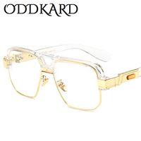 ODDKARD DTC سلسلة الساخن الرجعية النظارات الشمسية للرجال والنساء فاخر مصمم شبه بدون إطار نظارات شمسية ساحة Oculos دي سول UV400 OK55279