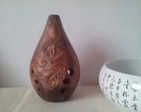Xun ancien instrument de musique de flûte Ocarina modèle traditionnel chinois F basse baryton tonale gamme de 12 degrés C