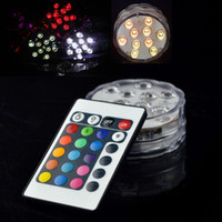 2 Style LED Multi Colors Submersible Waterproof Wedding Party Decoration Floral Vase Base Light +Remote Free shipping