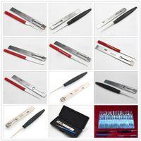 Caliente la venta de 33 tipos de herramienta de cerrajero de coche Auto set LISHI HU83 ganzúa MAZ24 HU92 HU100R TOY40 y más