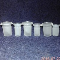 4 styles Glass adapter Reducer 18mm 14mm 10mm Male female Glass Drop Down Extender Glass Connector Clear glass bong fittings free shipping