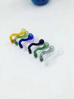 Partihandel Glas Tillbehör Glas Hantverk ---- Färg S-Typ Pot Rosta Koka huvud, Färg Slumpmässig Leverans