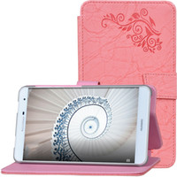 50pcs Print Flower PU Leather Cover for Huawei Mediapad T2 7...