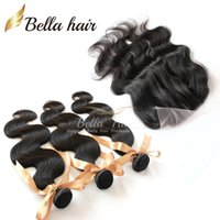 Malaysian Hair 4pcs lot (4x4) 3 Part Lace Closure with Bundl...