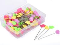 100PCs / 설정 상자 패치 워크와 바느질 바늘 여러 가지 빛깔의 새 모양 핀 DIY 바느질 액세서리 퀼트 도구 용품