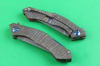 High End Neue Designer D2 Stahl Flipper Falzmesser Messer 59-60HRC Stein Lasur Klinge Titan Griff IKBS Systemrahmenschloss
